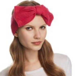 Kate Spade bow headband in begonia bloom